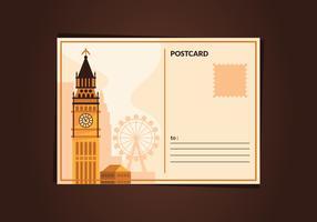 Carte postale vintage de Londres vecteur