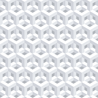 Abstrait 3D géométrique blanc