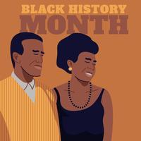 Reconnaissance du Mois de l'histoire des Noirs vecteur