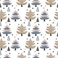 Modèle de vecteur de forêt de pins d'hiver scandinave