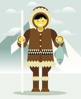 Illustration des Eskimos vecteur