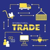 Conception de vecteur de commerce international