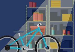 Vélos dans le garage vecteur