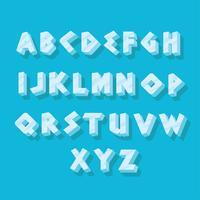 Alphabets glacés Pack de vecteur