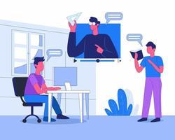 concept d'illustration de l'éducation en ligne vecteur