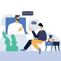 concept de vecteur d'illustration de l'éducation en ligne