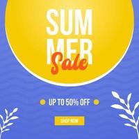 modèle de conception de vente d'été à la mode pour la publication sur les réseaux sociaux vecteur