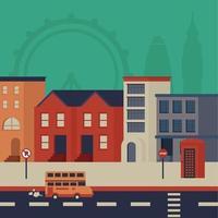 London Cityscape vecteur