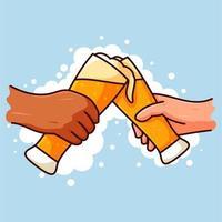 guys drinking beer vecteur
