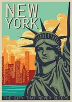 New York Poster vecteur