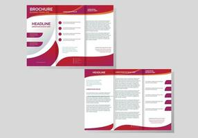 Professional Brochure Template Vector