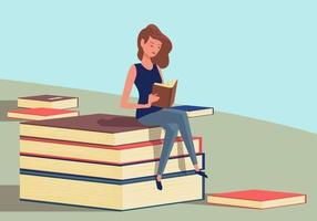 Bookworm Vector Illustration