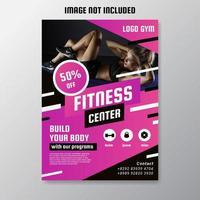 Fitness Center Flyer Vector