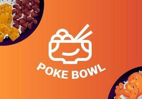 Healthy Poke Bowl Vectors