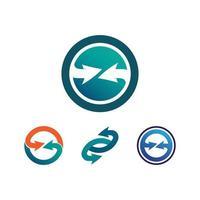 flèches vector illustration icône technologie de conception de modèle de logo