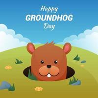 Groundhog day vecteur