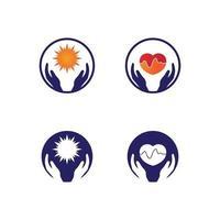 soins des mains logo modèle vecteur icône entreprise