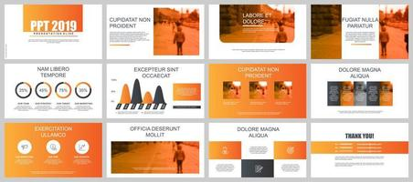 Orange Business Presentation Slides vecteur