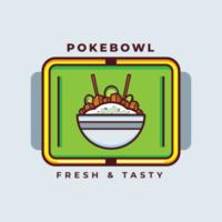 Hawaiian Poke Bowl Vector