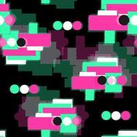 DIgital glitch seamless pattern vecteur