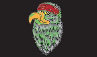 tête de chef d'aigle vecteur