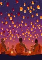 Taiwan Sky Lantern Event vecteur