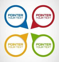 Set of Rounded Web pointers vecteur