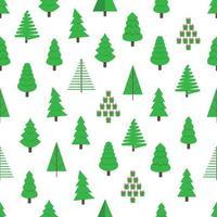Arbre de Noël vert sapin plat style design pattern vector illustration. symbole de la fête de Noël en famille isolé sur fond blanc. enveloppe de vacances de forme simple, tissu ou texture.