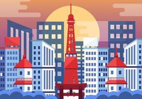 Tokyo Skyline vecteur