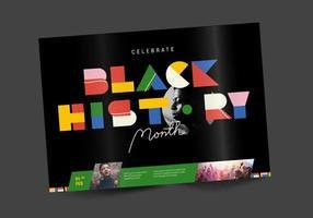Black History Month Brochure Design Vector