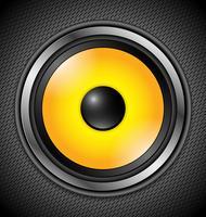 Haut-parleur moderne jaune vecteur