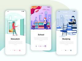 Ensemble de kit d'interface utilisateur d'écrans d'intégration pour l'éducation