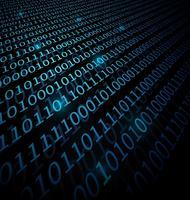 Fond de données binaires vecteur