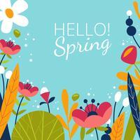Arrière-plans de printemps vecteur