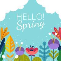 Beaux milieux de printemps vecteur