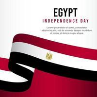 célébration de la fête de l'indépendance de l'egypte, illustration de modèle de vecteur de conception de bannière