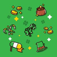 St.Patrick's day clipart ensemble de vecteur