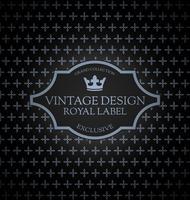 Carte étiquette vintage vecteur