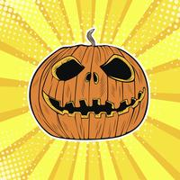 Tête de citrouille Halloween Jack vecteur