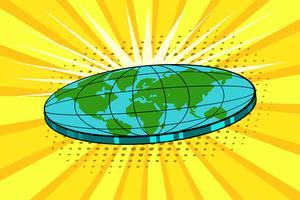 Disque Globe style Pop Art