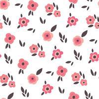 Fond floral doux et délicat vecteur