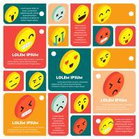 illustration du concept d'icône info graphique émoticônes
