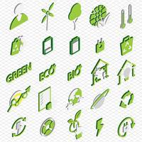 illustration du concept d'icônes eco graphique info