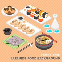 illustration du concept de cuisine japonaise graphique info