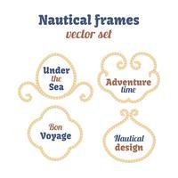 Ensemble de cadres nautiques vecteur