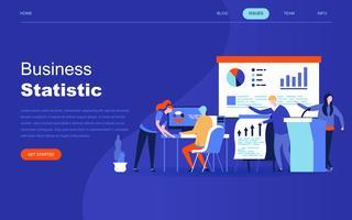 Concept de design plat moderne de statistiques commerciales pour site Web