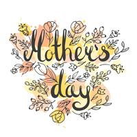 Carte de lettrage fête des mères
