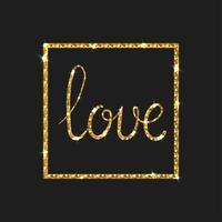 Carte d'amour. Calligraphie au pinceau moderne.