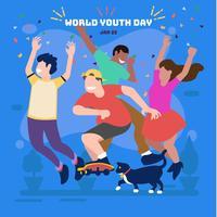 Journée mondiale de la Jeunesse vecteur