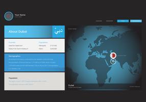 Détails de Dubaï, faits, infographie de localisation vecteur